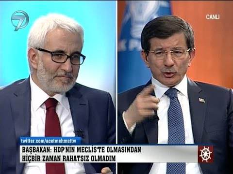 Başbakan Ahmet Davutoğlu Kanal 7 ve...