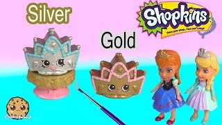 DIY Custom Shopkins Season 3 Playset Exclusive Tiara Paint Craft Toy Video Cookieswirlc