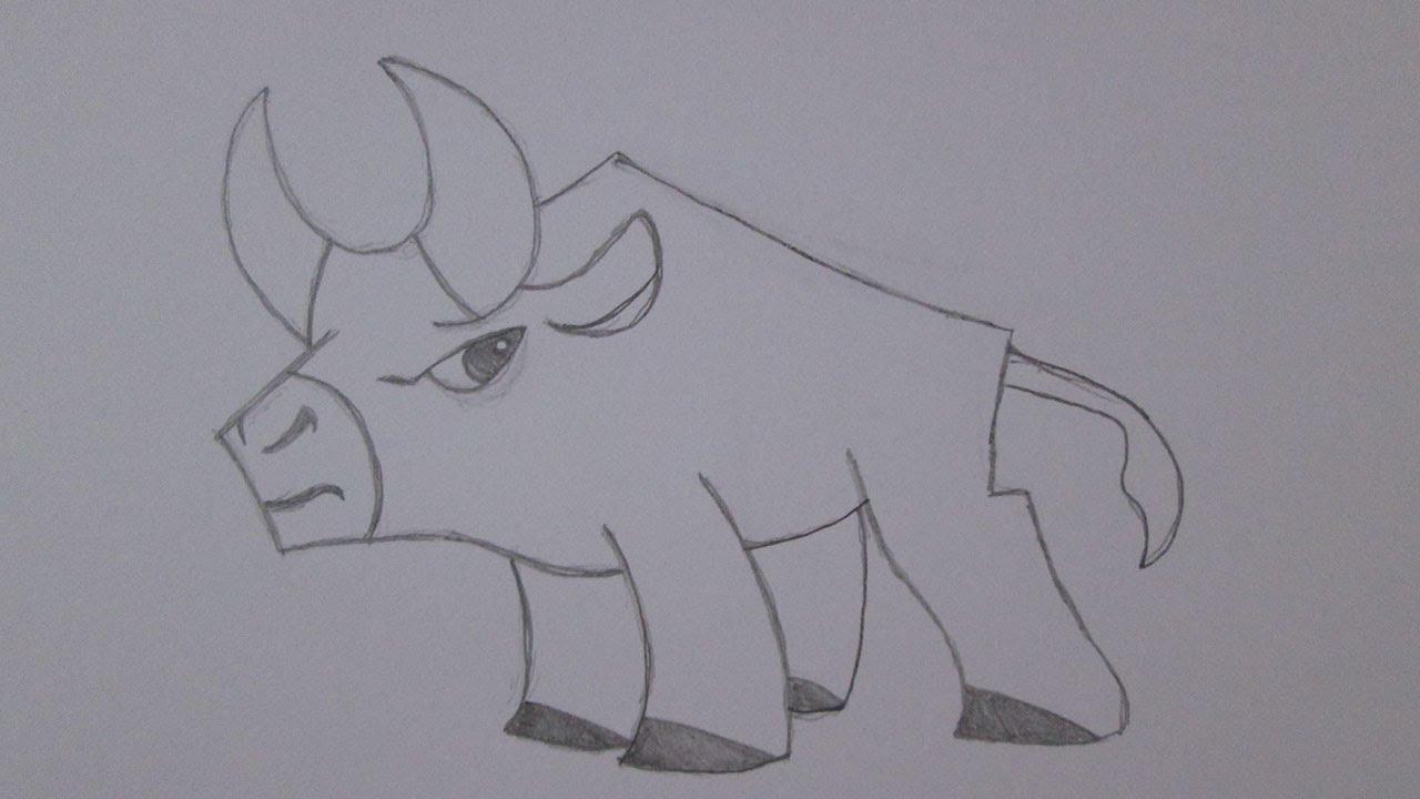 Como desenhar um touro - YouTube