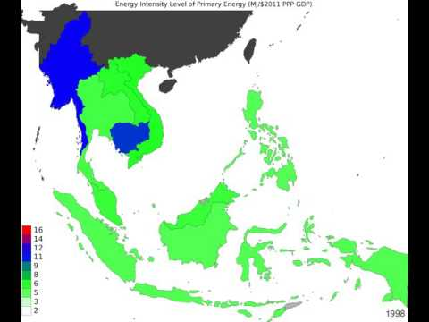 South East Asia - Energy Intensity Level Of Primary Energy - Time Lapse