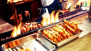 Japanese Yakitori Machine For Skewered Chicken Grill In Singapore Of Asia
