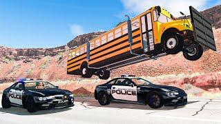 Police Car Chases #34 - BeamNG DRIVE | SmashChan
