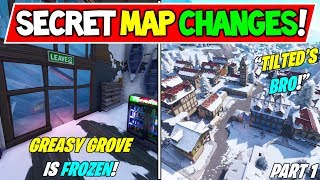 "ALL *NEW* FORTNITE SEASON 7 SECRET MAP CHANGES! ""Is That Greasy?"" V7.00 Season 7 Storyline!) - Part 1"