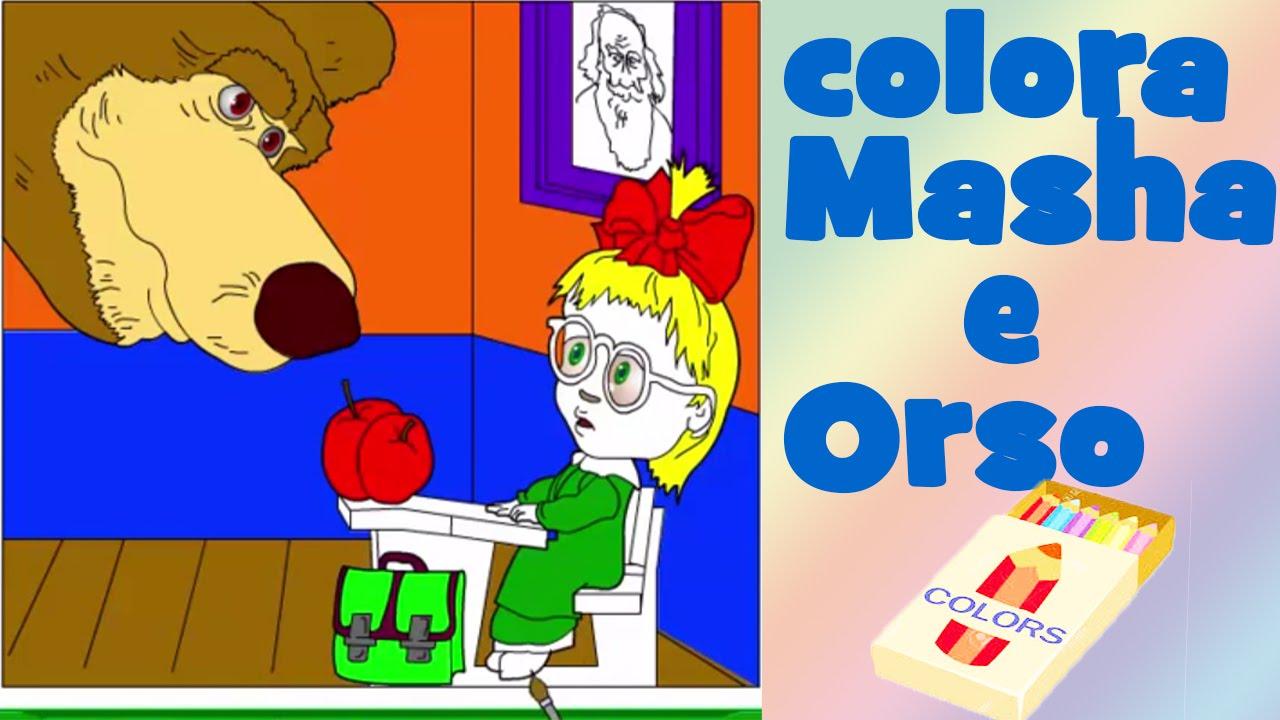 Masha e orso italiano colora masha e orso giochi e for Masha e orso stampa e colora