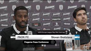 Pregame: Η συνέντευξη Τύπου του ΠΑΟΚ - SK Slovan Bratislava- PAOK TV