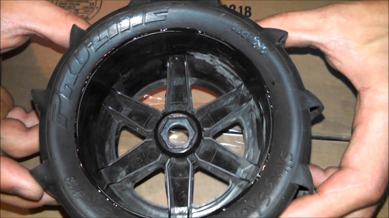 How To - Glue RC Tires to Rims (HD) - YouTube