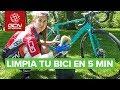 Cómo limpiar la bicicleta en 5 min