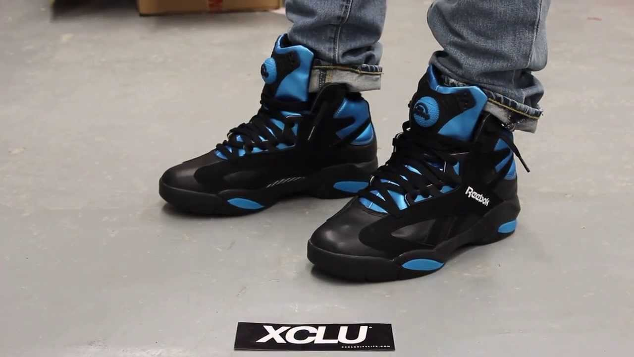b0373754c3ef Reebok Shaq Attaq Black - Azure On-feet Video at Exclucity - YouTube