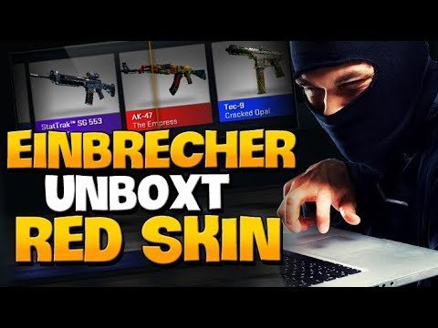 Einbrecher unboxt einen Red Skin für mich! - CS:GO Case Opening [German]
