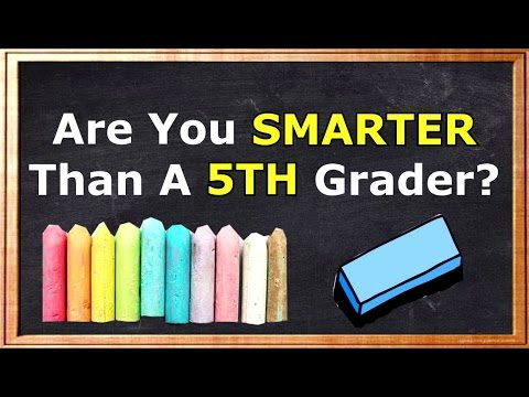 Are You Smarter Than A 5th Grader? CHALLENGE -90% Fails!!