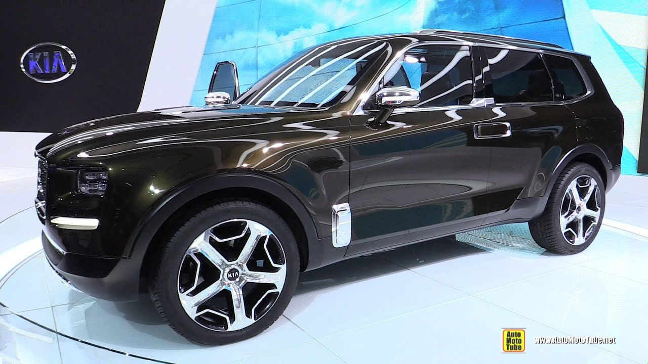 kia telluride concept suv walkaround 2016 detroit auto show youtube. Black Bedroom Furniture Sets. Home Design Ideas
