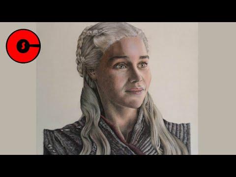 Drawing Daenerys Targaryen – Game Of Thrones [Speed Drawing]