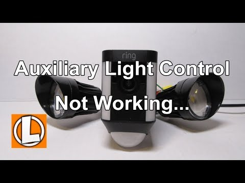 Ring Spotlight Cam Auxiliary Light Control Not Working Life