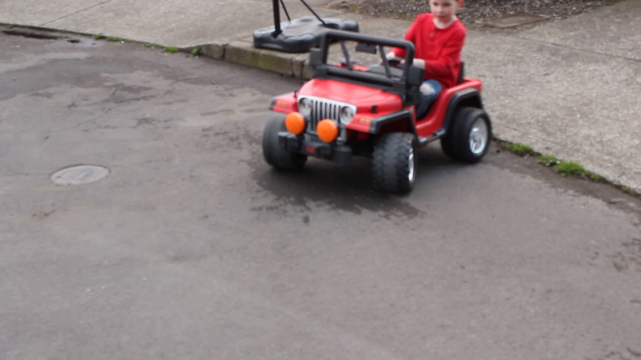 24 volt Power Wheels tearing up the streets!