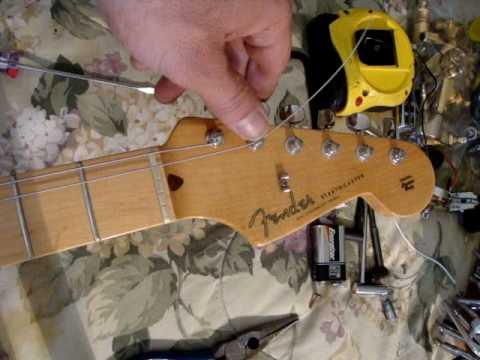 Fender Locking Tuner Instruction Demo Youtube