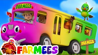 The Wheels On The Bus Go Round And Round | Kids | Baby Songs For Children by Farmees S02E209