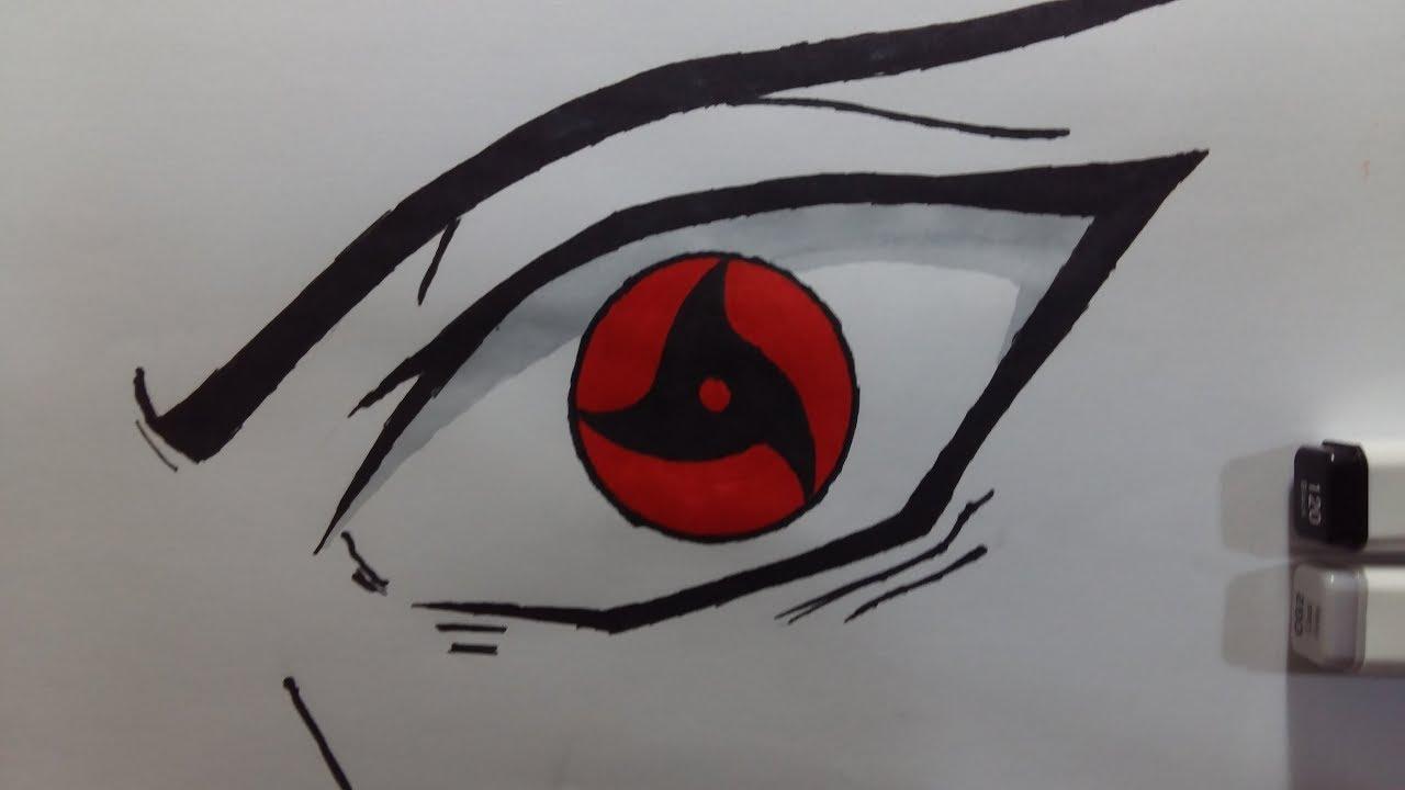 Vẽ Mangekyou Sharingan Itachi Uchiha