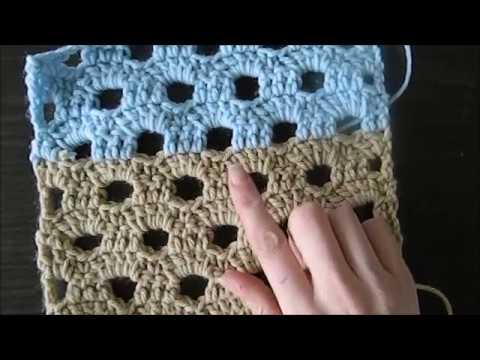 Lovely Crochet Thick Fan Stitch Pattern For A Scarf Or Blanketcro