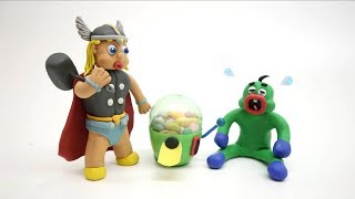 Baby Video Cartoons - Green Baby Compilation 70 to 83Ep. - Play Doh Baby Stop-Motions