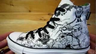 Gorillaz Converse Chuck Taylor Sketch