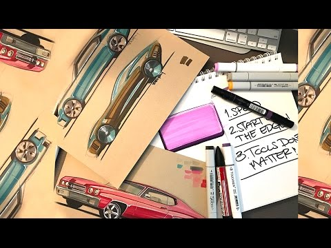 How to Sketch with Markers - Part 1 (Tools don't matter)