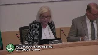 School Board Meeting from 9/17/19