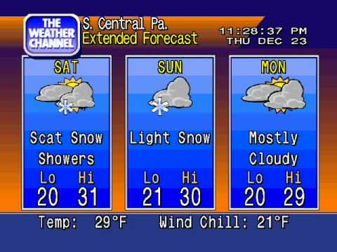 WeatherSTAR 4000 Emulator - December 23, 2010