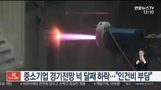 """중소기업 경기전망 넉 달째 하락…""""인건비 부담…"""