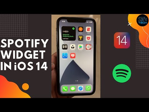 How to get spotify widget in iOS 14!