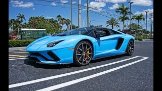 3 Lamborghini Aventador S Roadster Arrived to Lamborghini Miami for Epic BULL Ride to Key Largo