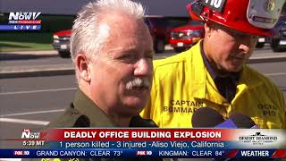 MULTIPLE AGENCIES RESPOND: To deadly office building explosion in Aliso Viejo, CA (FNN)