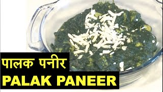 """palak Paneer"" Recipe - Cottage Cheese In Spinach Gravy Indian Vegetarian Recipes - How To"