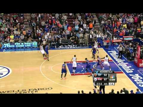 New York Knicks vs Philadelphia 76ers | March 21, 2014 | NBA 2013-14 Season
