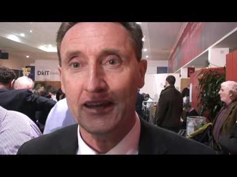 Fine Gael candidate Peter Fitzpatrick talks to the Democrat