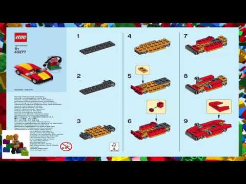 Lego Instructions Monthly Mini Model Build 40277 Car And