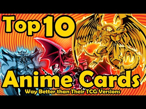 Top 10 Anime Cards Way Better Than Their TCG Versions in YuGiOh