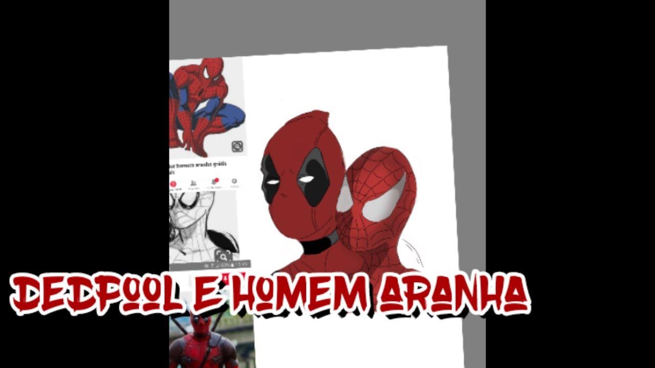 Speed Art dedpool e homem Aranha como desenhar dedpool homem aranha