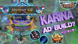 Mobile Legends - Best AD Build for Karina   Monster Kill [MVP] Gameplay