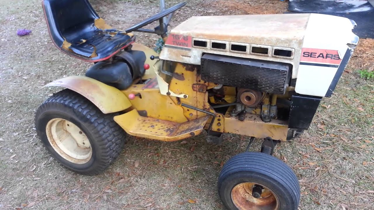 Sears 16 6 garden tractor youtube for Sears garden tractor