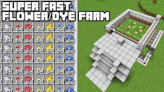 Super Fast Flower/Dye Farm - Minecraft 1.15/1.16 Tutorial (Java Edition)
