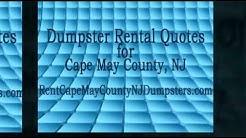 Dumpster Rental - Cape May County, NJ