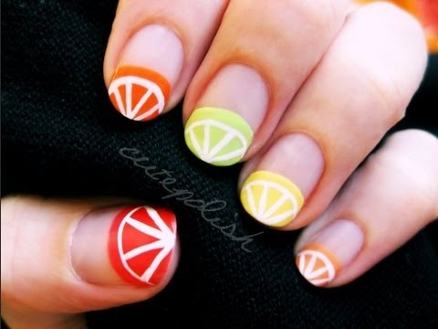 Citrus Fruit Nail Art