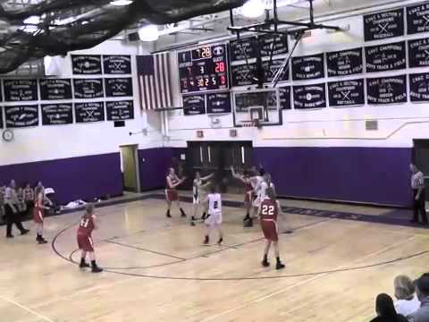 Saranac Girls Varsity Basketball  1-24-13