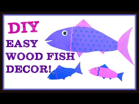 Easy DIY Fish Decor Wall Hangings!  Craft Klatch ~ How To