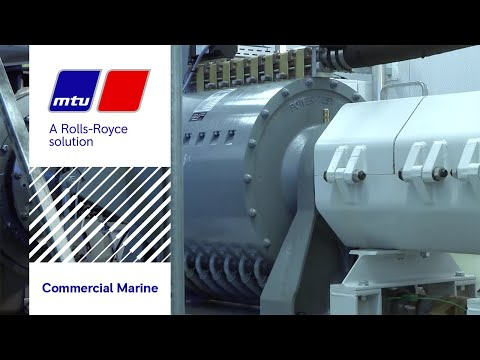 MTU's first high speed gas engine for marine applications