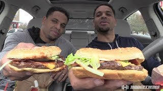 Eating BBQ Bacon WHOPPER® Sandwich @hodgetwins