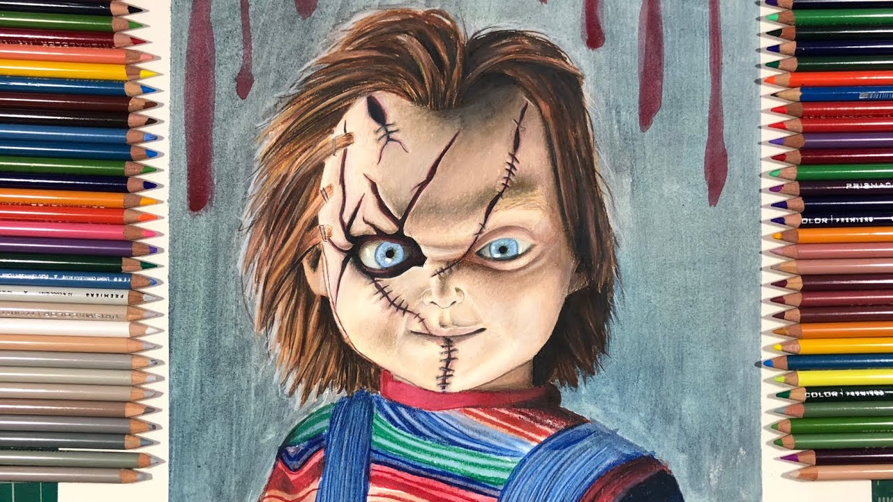 Drawing Chucky From Child S Play Youtube