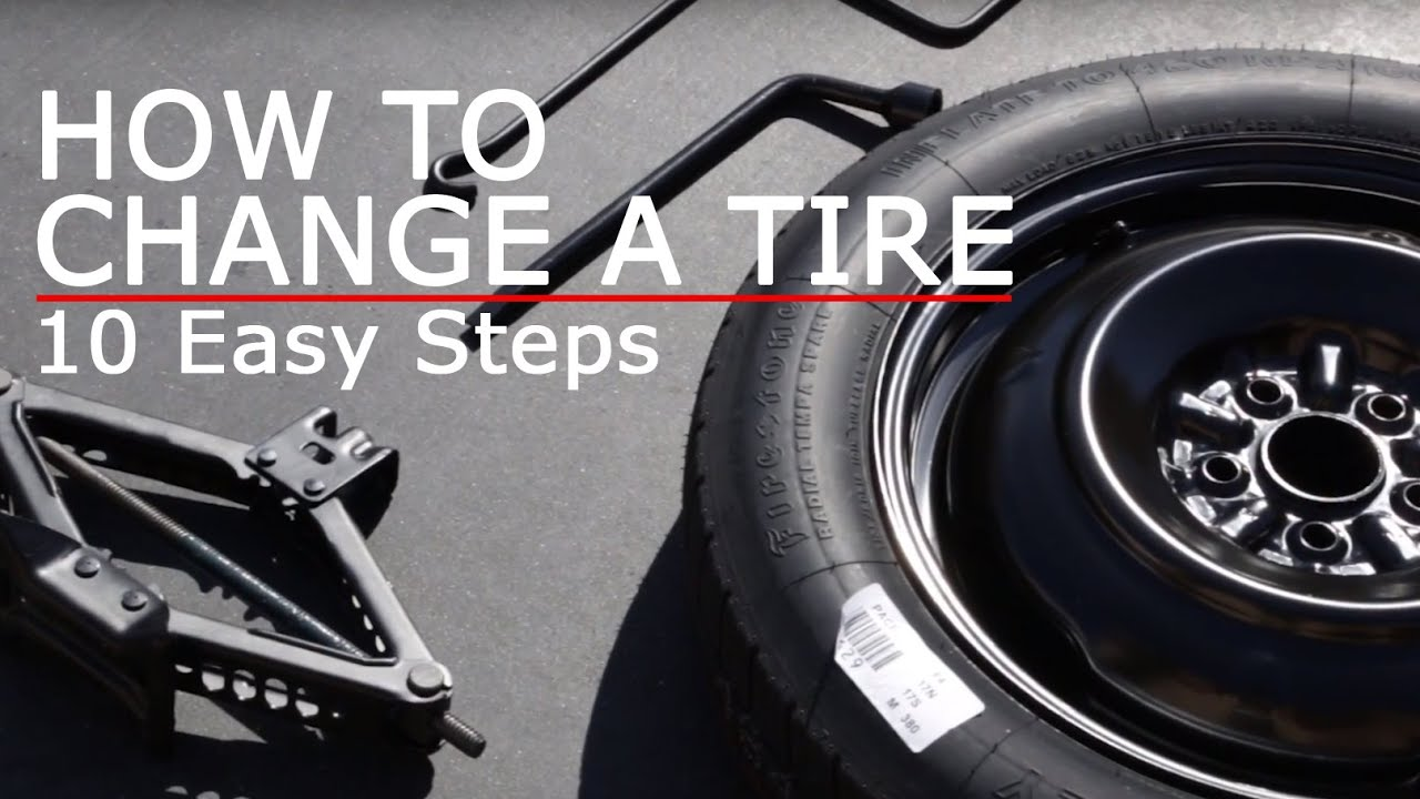 how to change a tire 10 easy steps youtube. Black Bedroom Furniture Sets. Home Design Ideas