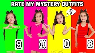 RATE MY ONE MYSTERY COLOR OUTFITS!! - Challenge | Jancy Family