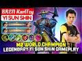 M2 World Champion, Legendary Yi Sun Shin Gameplay  BREN KarlTzy Yi Sun Shin  Mobile Legends
